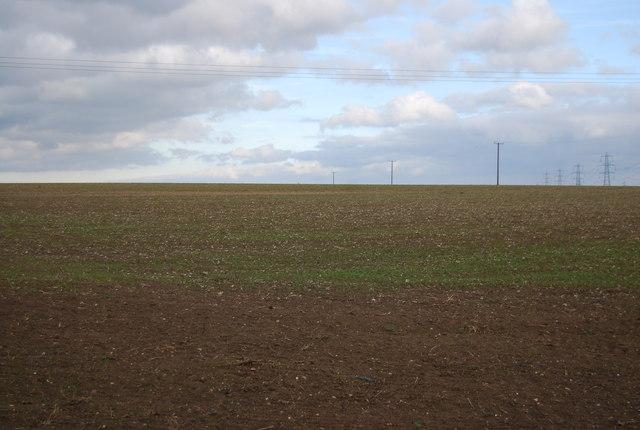Farmland on the edge of Middle Stoke