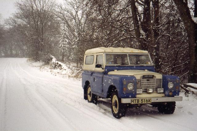 Snow covered lane near Ratherheath