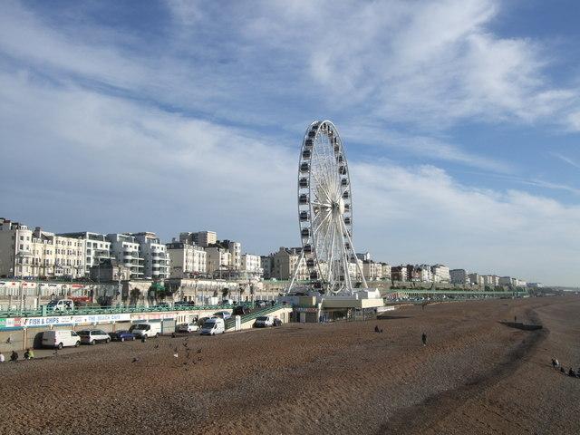 Brighton Wheel viewed from the pier