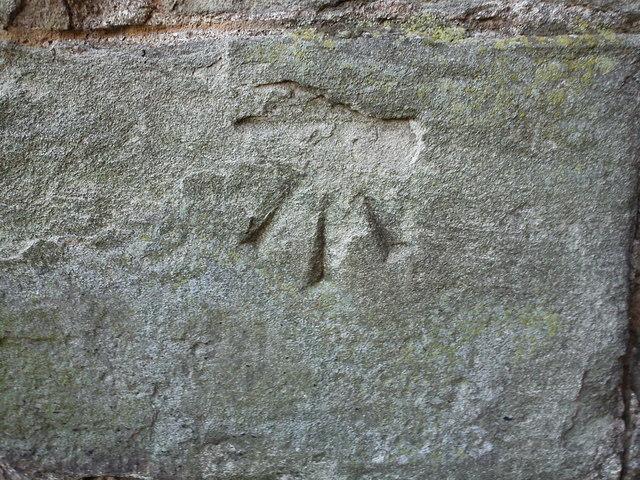 Bench Mark on St Leonard's Church, Bridgnorth