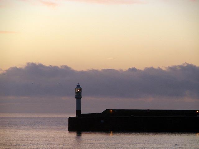 The South Pier light, Penzance