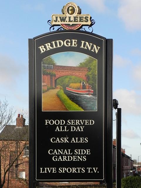 Bridge Inn (sign)