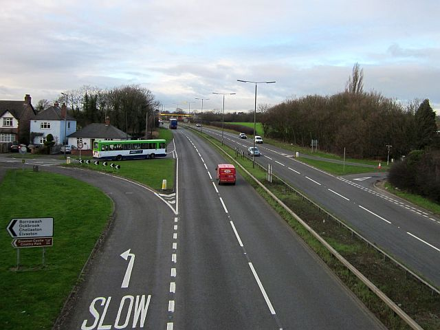 A52 at Borrowash