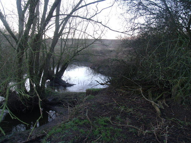 Junction of Leighton Brook and the River Weaver