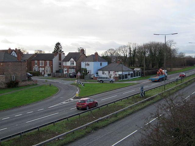 Junction of Victoria Avenue, Borrowash, with the A52