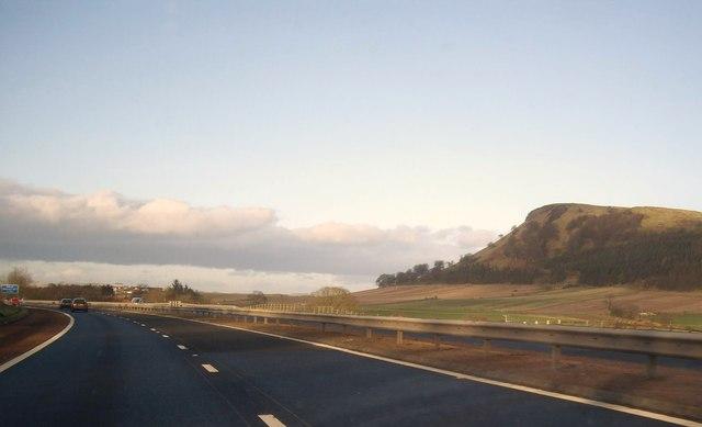Heading north on M90