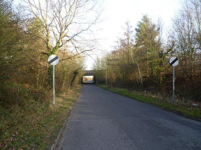 Ship Lane, Swanley passing under the M25