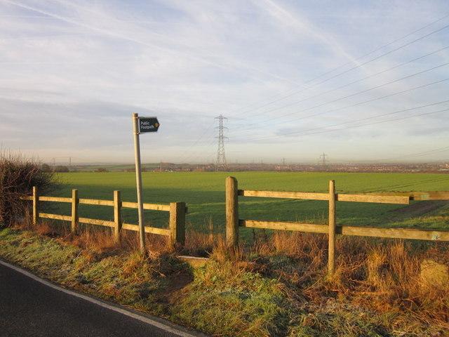 A footpath towards Normanton