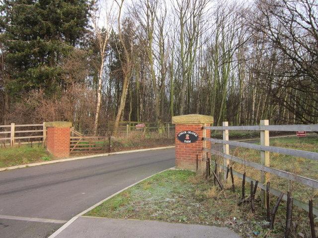 The entrance to Loscoe Grange Farm