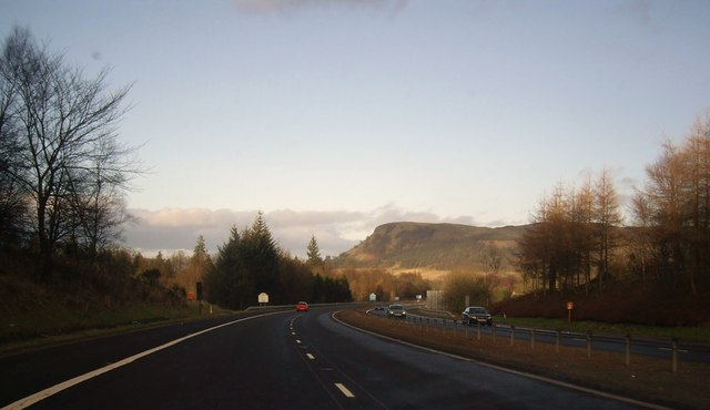 Approaching a county boundary sign on the M90