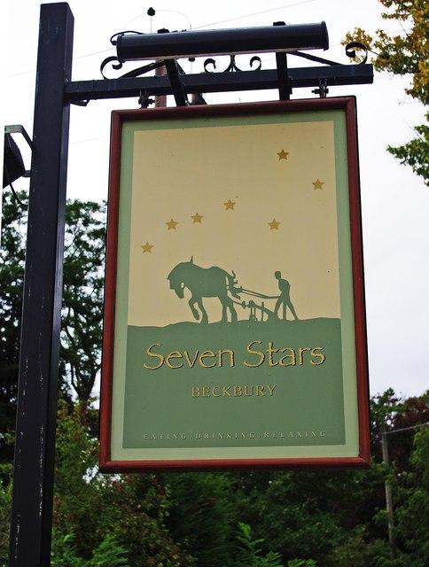 Seven Stars (3) - sign, Madeley Road, Beckbury