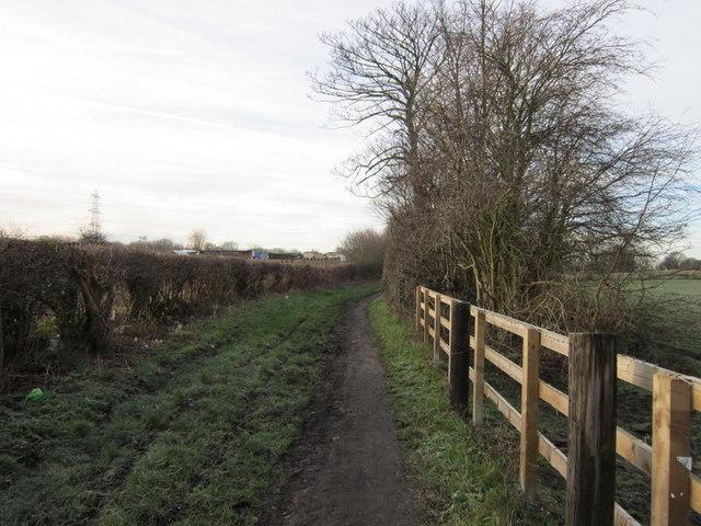 A footpath off Patience Lane, Altofts