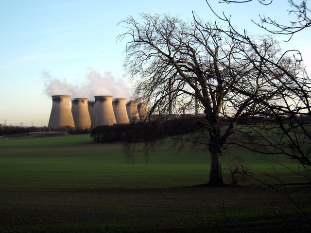 Fryston Park and Ferrybridge Power Station.