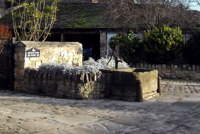 Water pump and trough at Ledsham