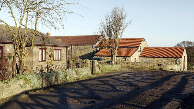 Farm buildings at Low West House