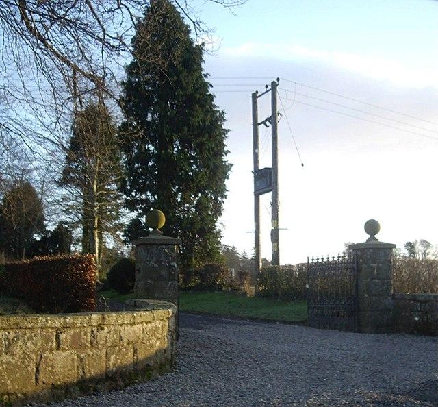 Gated entrance to Fettercairn House estate