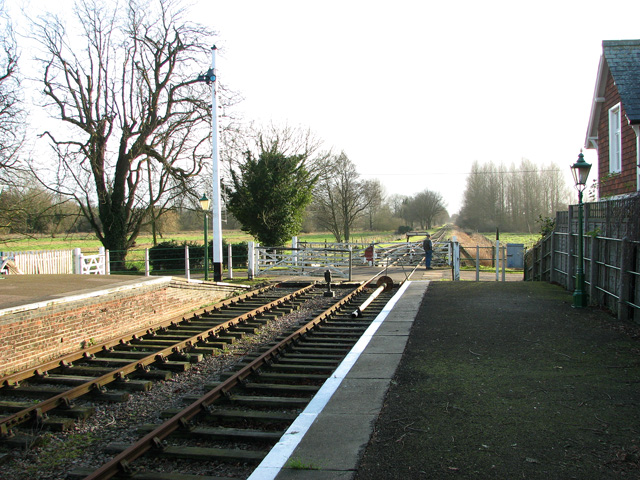 View towards the crossing gates at County School Station