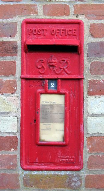 County School Station - George VI postbox