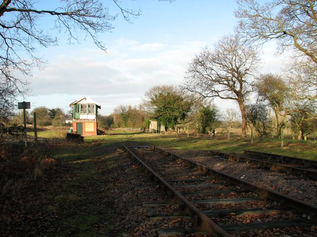 County School Station - signal box and platelayer's hut