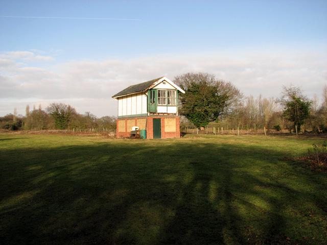 County School Station - signal box