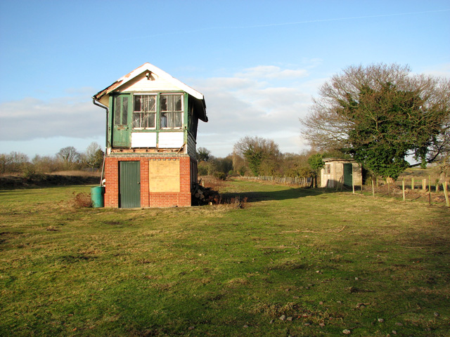 County School Station - the dismantled trackbed