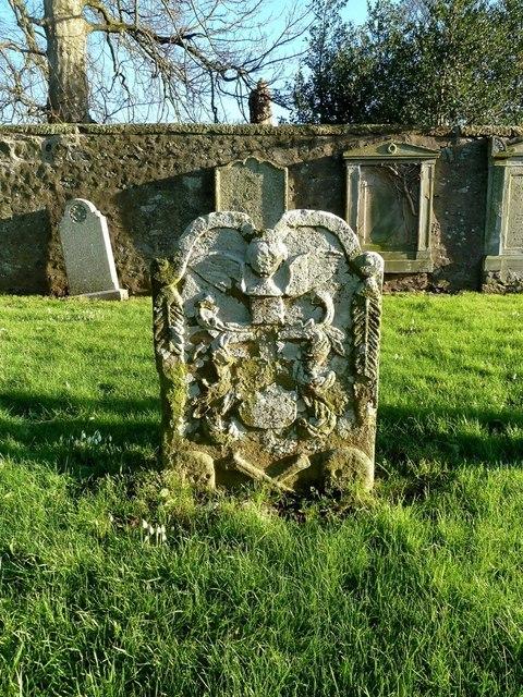 Headstone in Crosbie Churchyard
