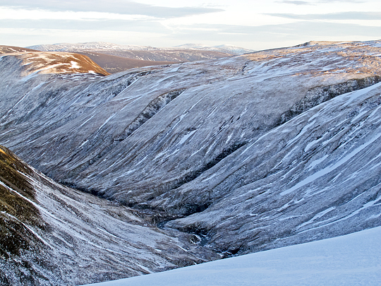 The Cama' Choire in winter