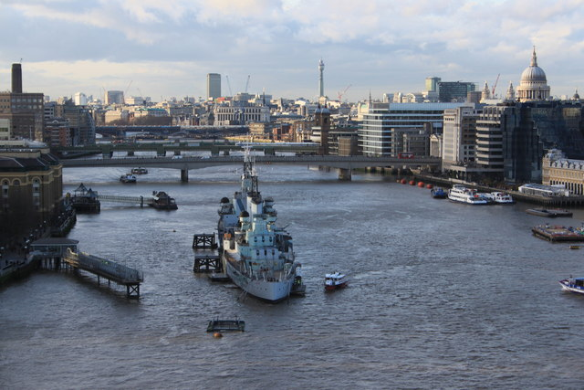 HMS Belfast and the Pool of London 2012
