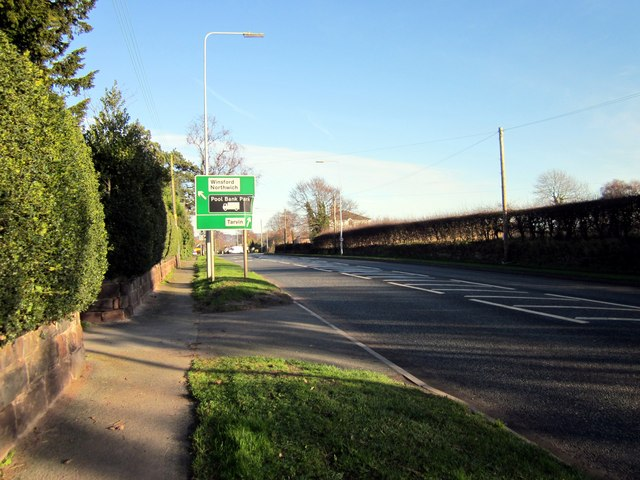 The A54 (Holme Street) at Tarvin
