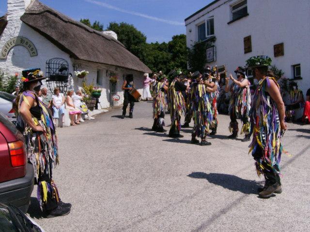 Dancing at Cenarth River Festival