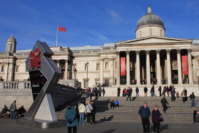 The Olympic Clock in Trafalgar Square