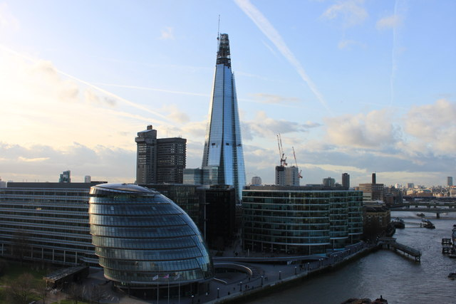 City Hall and the Shard from Tower Bridge