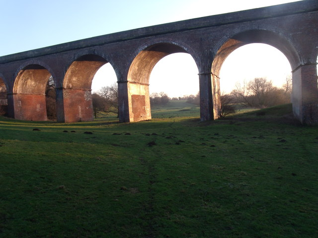 Crewe to Chester Railway line (Nine Arches)