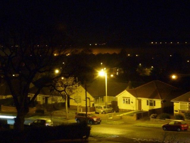 Northbourne: orange mist at midnight