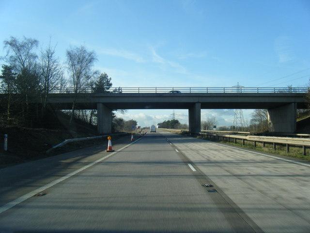 M56 passes under Whitby Lane