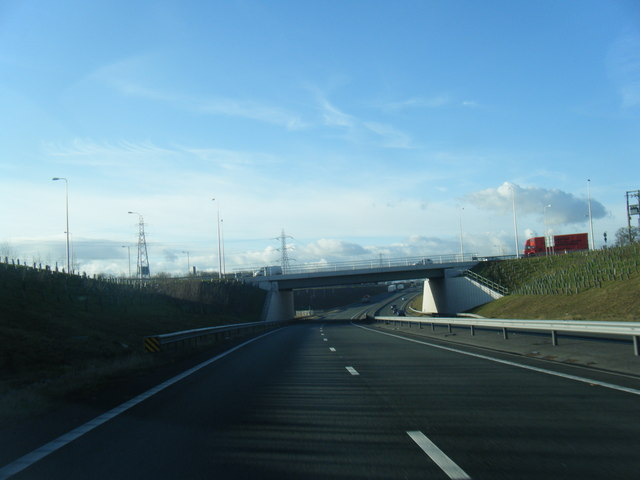 A494 passes under the A540