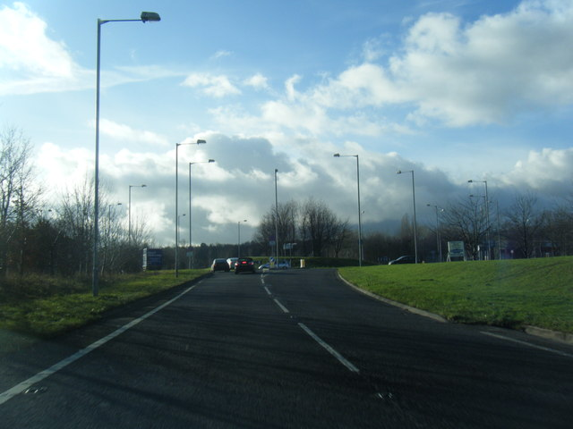 Mold by-pass at Wrexham Road roundabout