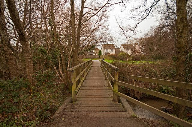 A footbridge & cyclepath on Coney Gut