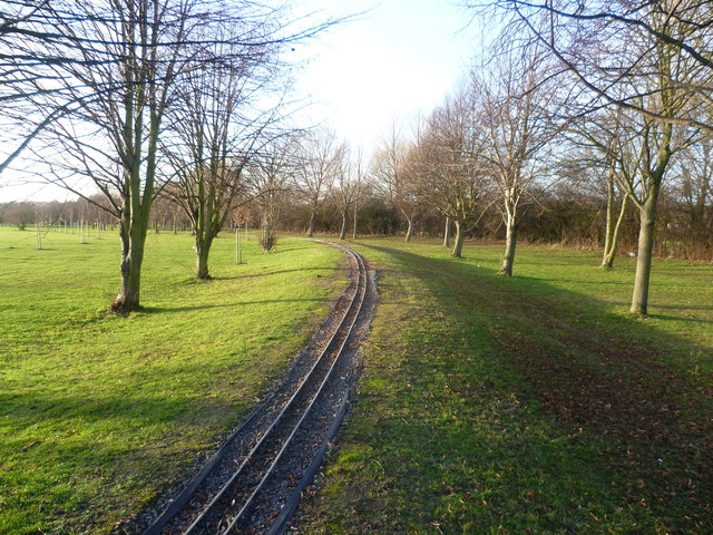 Model railway track in Swanley Park