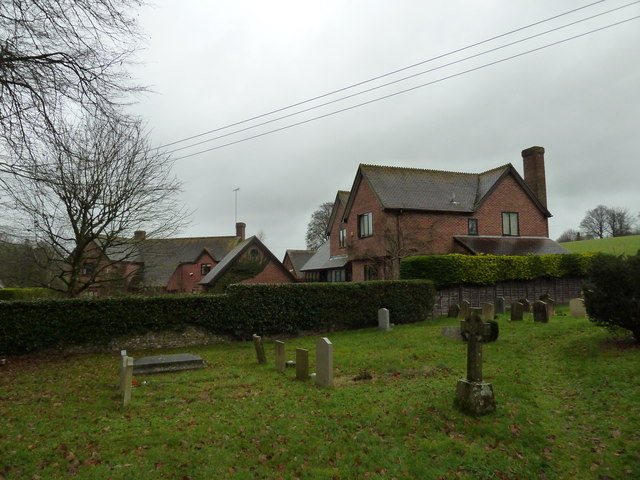 Houses as seen from  East Tisted Churchyard
