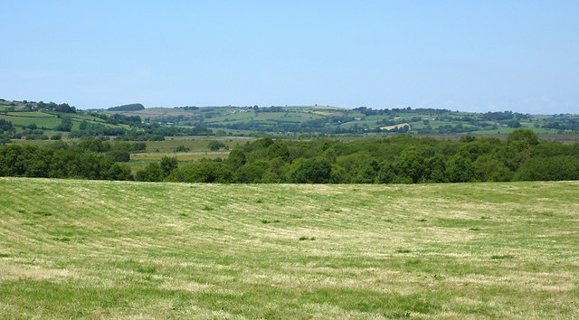 Pasture and Teifi Valley north of Tregaron, Ceredigion