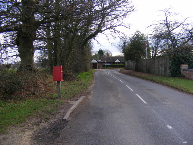 Bent Lane, Rushmere St Andrew & Rush Cottage Bent Lane Postbox
