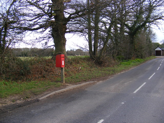 Bent Lane, Rushmere St Andrew & Rush Cottage Bent Lane Postbox