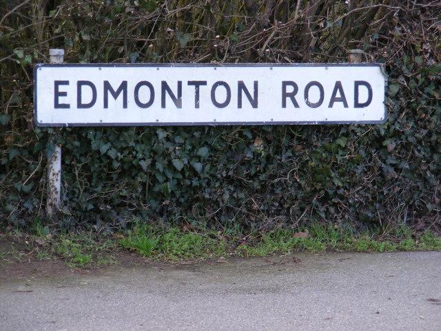 Edmonton Road sign