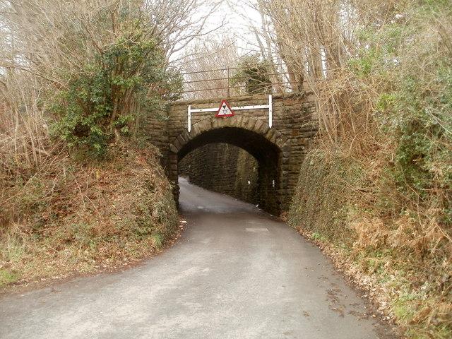 Former railway bridge, Dranllwyn Lane, Machen