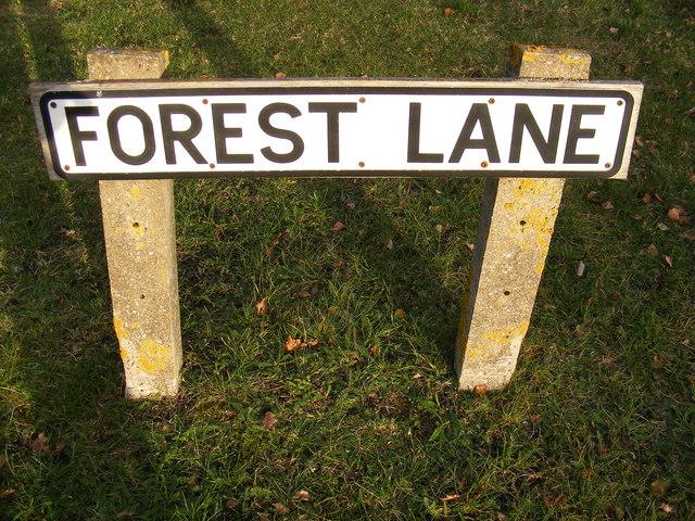 Forest Lane sign