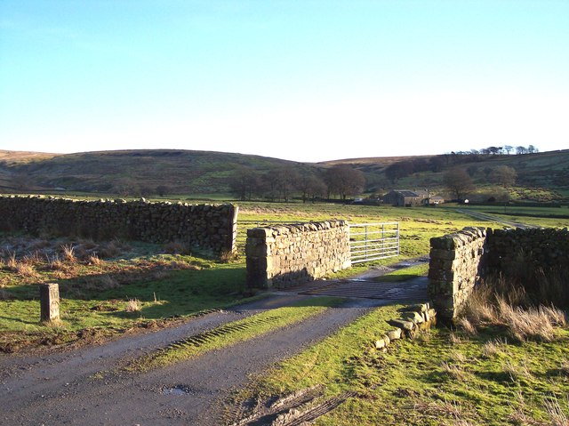 Cattle grid and marker post for Wyre Way