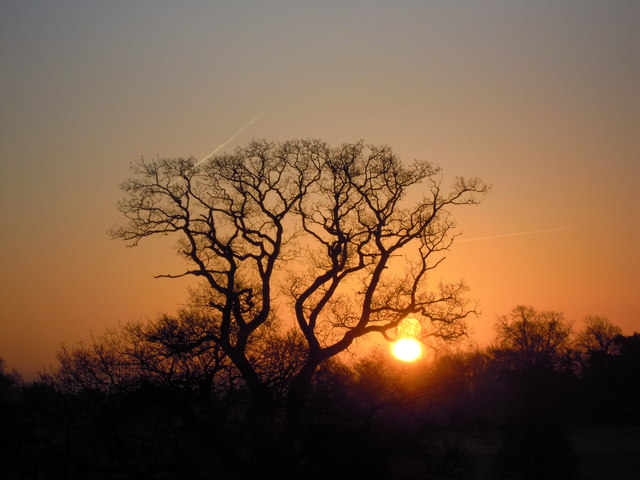 Sunrise from window of Ardencote Hotel