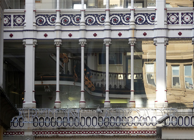 Detail of Barton Arcade, St Ann's Square, Manchester (1)