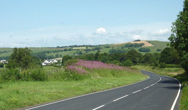 A485 approaching Tregaron, Ceredigion